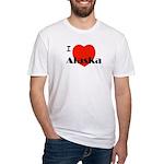 I Love Alaska! Fitted T-Shirt