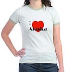 I Love Alaska! Jr. Ringer T-Shirt