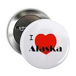 """I Love Alaska! 2.25"""" Button"""