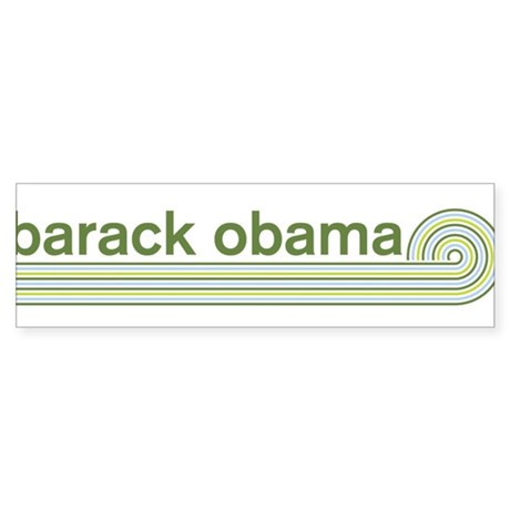 Barack Obama (retro green) Bumper Sticker