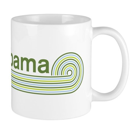 Barack Obama (retro green) Mug