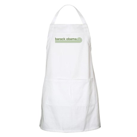 Barack Obama (retro green) BBQ Apron