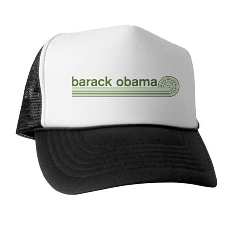 Barack Obama (retro green) Trucker Hat