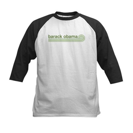 Barack Obama (retro green) Kids Baseball Jersey