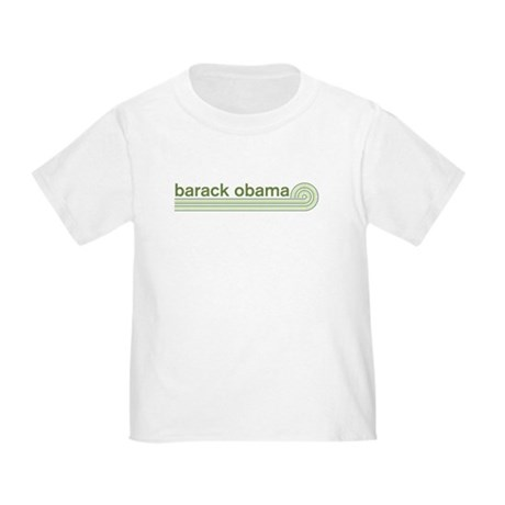 Barack Obama (retro green) Toddler T-Shirt