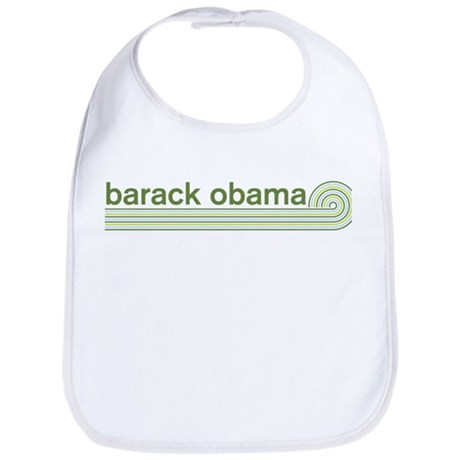 Barack Obama (retro green) Bib