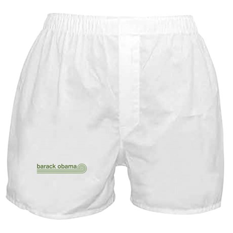 Barack Obama (retro green) Boxer Shorts