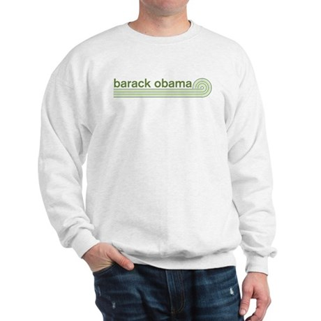 Barack Obama (retro green) Sweatshirt