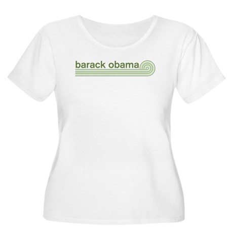 Barack Obama (retro green) Womens Plus Size Scoop
