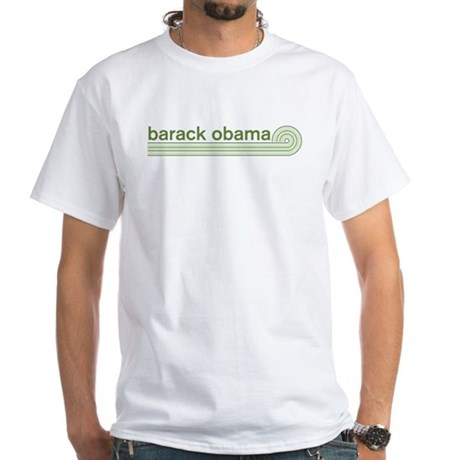 Barack Obama (retro green) White T-Shirt