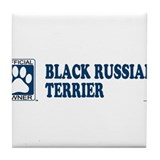 BLACK RUSSIAN TERRIER Tile Coaster