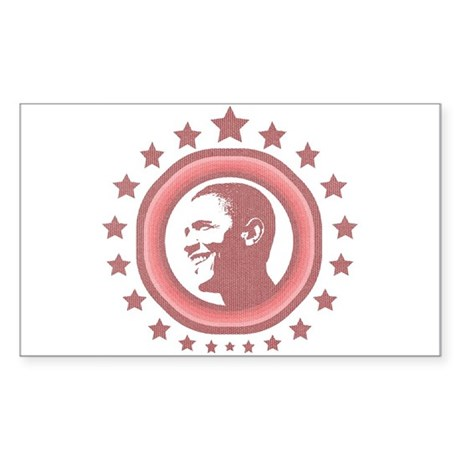 Super Obama (red) Rectangle Sticker