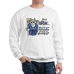 Mr. Gruff Atheist Witnessing  Sweatshirt