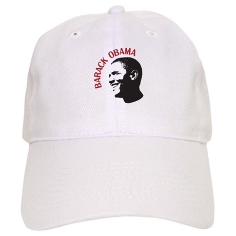 Barack Obama Head Shot (red) Cap