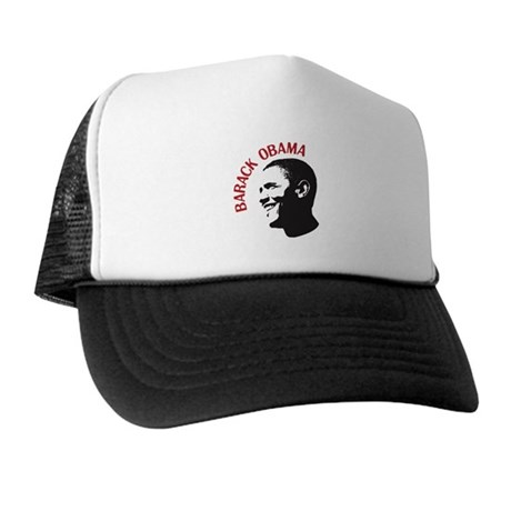 Barack Obama Head Shot (red) Trucker Hat