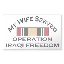 My Wife Served OIF Rectangle Decal
