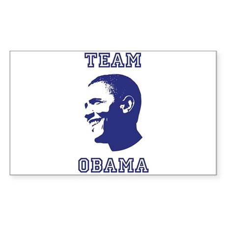 Team Obama Rectangle Sticker