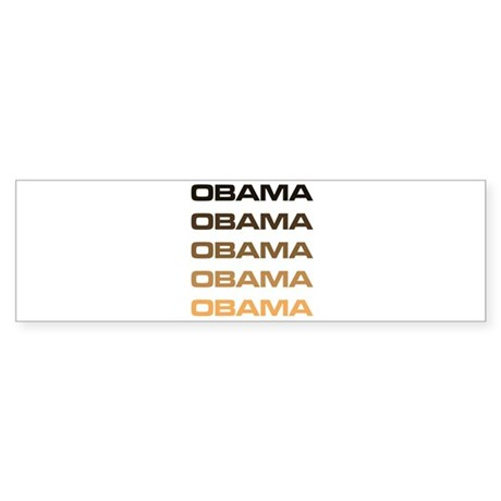 Obama Obama Obama Bumper Sticker