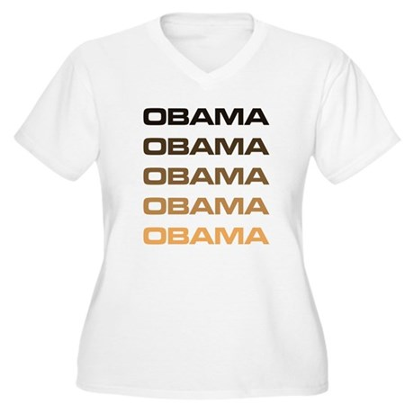 Obama Obama Obama Plus Size V-Neck Shirt