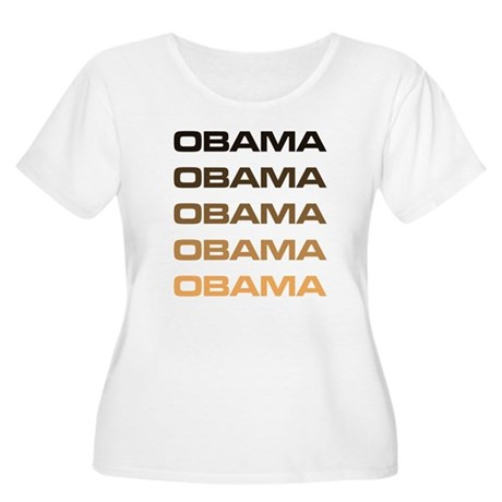 Obama Obama Obama Womens Plus Size Scoop Neck T-S