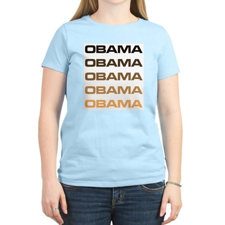 Obama Obama Obama Womens Light T-Shirt