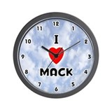 I Love Mack (Black) Valentine Wall Clock