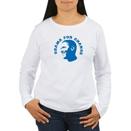 Obama for Change  Womens Long Sleeve T-Shirt