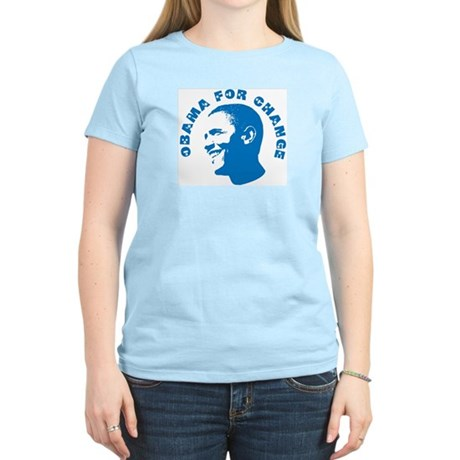 Obama for Change  Womens Light T-Shirt