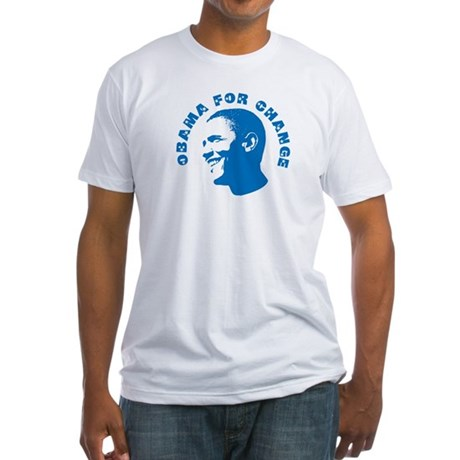 Obama for Change  Fitted T-Shirt