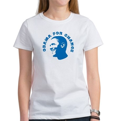 Obama for Change Womens T-Shirt