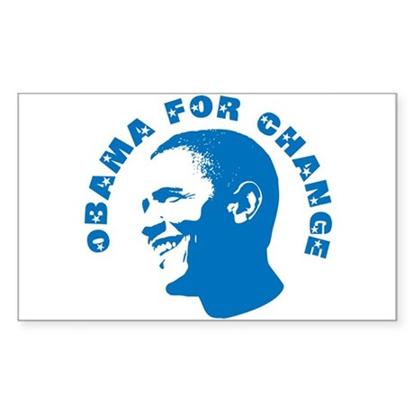Obama for Change Rectangle Sticker