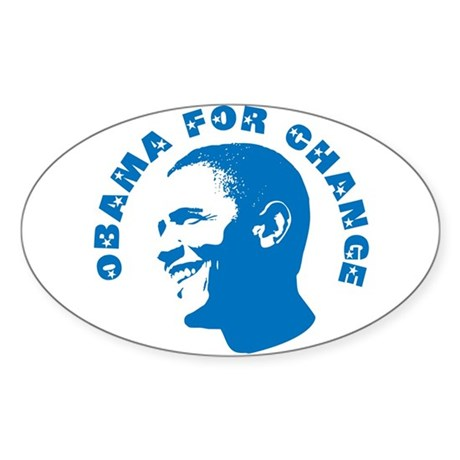 Obama for Change Oval Sticker