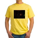 Christmas Tree at Night Yellow T-Shirt