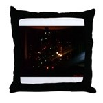 Christmas Tree at Night Throw Pillow
