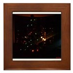 Christmas Tree at Night Framed Tile