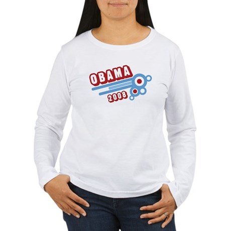 Obama 2008 (retro) Women's Long Sleeve T-Shirt