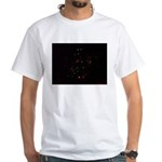 Christmas Tree at Night White T-Shirt