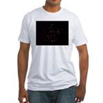 Christmas Tree at Night Fitted T-Shirt