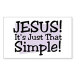 Habu's Simple Jesus Sticker