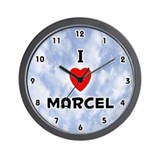 I Love Marcel (Black) Valentine Wall Clock