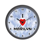 I Love Marilyn (Black) Valentine Wall Clock