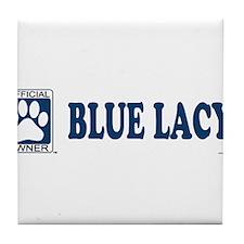 BLUE LACY Tile Coaster