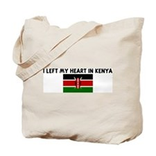 I LEFT MY HEART IN KENYA Tote Bag