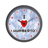 I Love Humberto (Red/Blk) Valentine Wall Clock