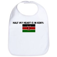 HALF MY HEART IS IN KENYA Bib
