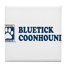 BLUETICK COONHOUND Tile Coaster