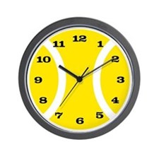Yellow Tennis Ball Wall Clock