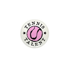 Pink Tennis ball Mini Button (100 pack)