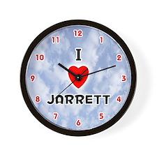 I Love Jarrett (Red/Blk) Valentine Wall Clock