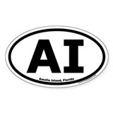 Amelia Island, Florida &quot;AI&quot; Decal